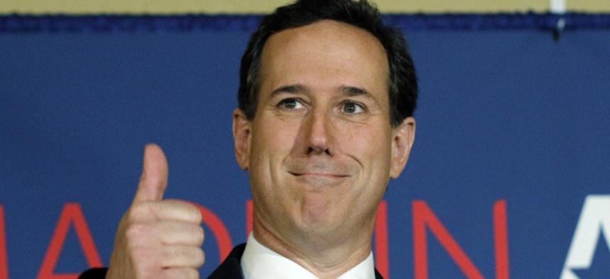 Rick Santorum's wins propelled him closer to Mitt Romney in delegate count.