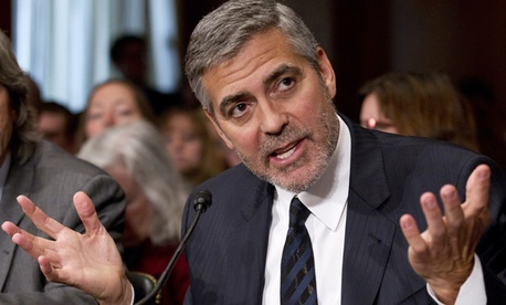 Clooney testified before the Senate Foreign Relations Committee on Wednesday.