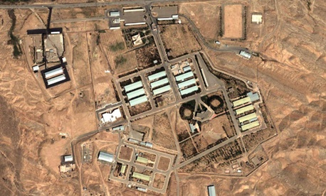 Satellite photos show a military complex southeast of Tehran.