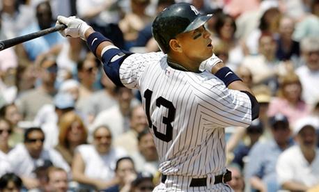 Yankees infielder Alex Rodriguez