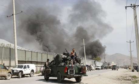 Taliban insurgents attacked a compound housing foreigners in Kabul last week