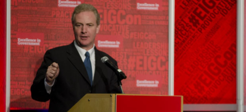 """Rep. Chris Van Hollen says it bothers him when """"Republican colleagues try to gain political points by talking down federal employees."""""""