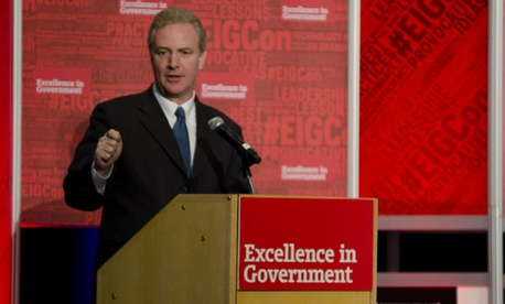"Rep. Chris Van Hollen says it bothers him when ""Republican colleagues try to gain political points by talking down federal employees."""
