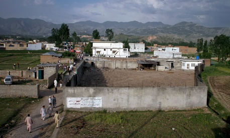 The compound where al-Qaida leader Osama Bin Laden was caught and killed in Abbottabad, Pakistan.