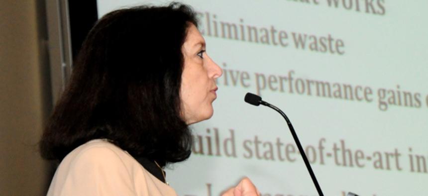 Shelley Metzenbaum, OMB's associate director of performance and personnel management.