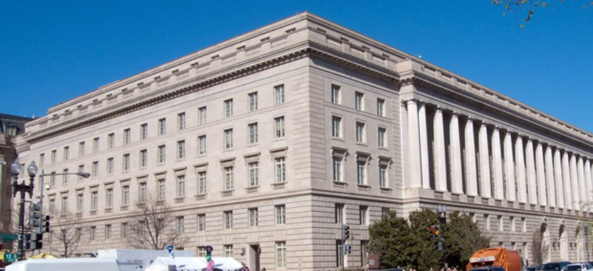 Internal Revenue Service headquarters, where they cut employment by 6 percent last year.