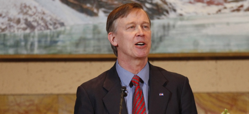 """Colorado Gov. John Hickenlooper said both parties in Congress """"can't resist poking the other person across the aisle and causing a little bit of a ruckus."""""""