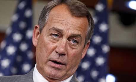 House Speaker John Boehner took the news as a political victory.