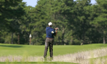 Obama has golfed while on vacation on Martha's Vineyard.