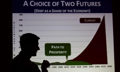 Rep. Paul Ryan, R-Wis., held a series of budget town hall meetings in 2011.