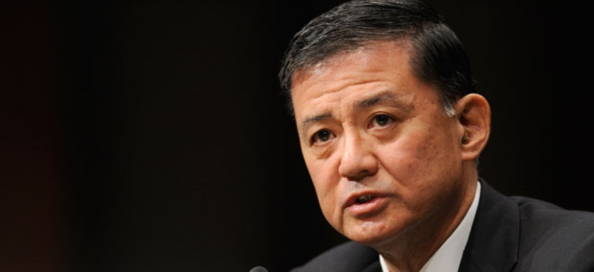 """Veterans Affairs Secretary Eric Shinseki said he """"will hold accountable any individuals who violated standards of conduct."""""""