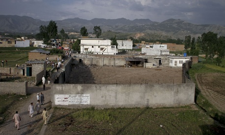 The raid took place at this compound where Osama bin Laden was caught and killed in Abbottabad, Pakistan.