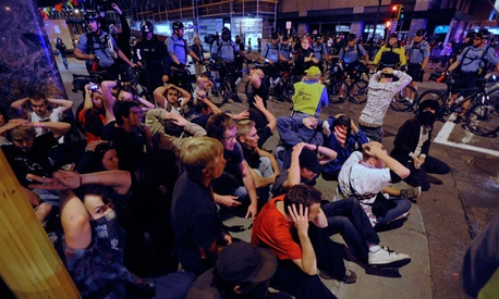 Protests at the 2008 Republican National Convention included sit-ins