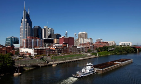 The Cumberland River runs through Nashville.