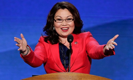 Tammy Duckworth spoke at the DNC Tuesday.