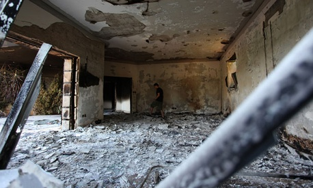 The inside of the U.S. Consulate in Benghazi was burned in the attack.