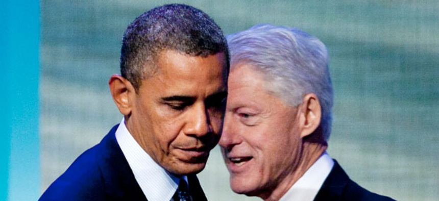 Obama spoke at the Clinton Global Initiative meeting Tuesday.