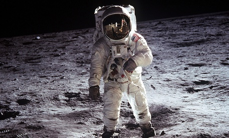 Photo of Astronaut Buzz Aldrin taken by Neil Armstrong from the surface of the Moon.