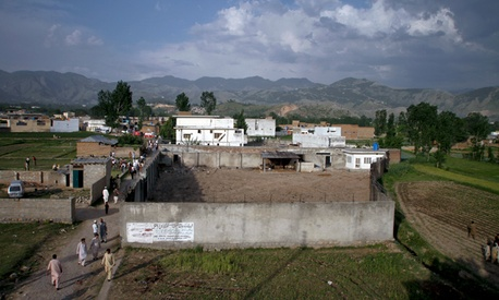 The compound where it is believed al-Qaida leader Osama bin Laden lived in Abbottabad, Pakistan.