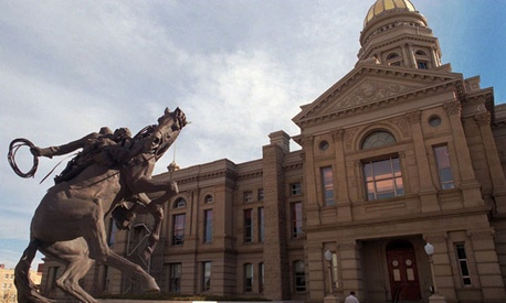 The Wyoming state government is centered in its downtown Cheyenne capitol building.