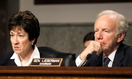 Sens. Joseph Lieberman, I-Conn. and Susan Collins, R-Maine,