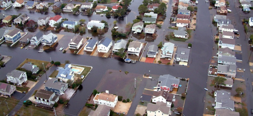 Flooding in Delaware from Hurricane Sandy