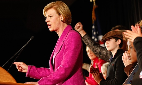 U.S. Rep. Tammy Baldwin, D-Wis. makes her victory speech after winning the race for Wisconsin's U.S. Senate seat.