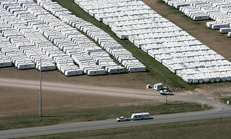20,000 mobile homes and travel trailers owned by the Federal Emergency Management Agency.