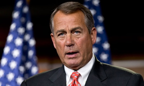 Speaker John Boehner sent President Obama a counterproposal to reduce the deficit.