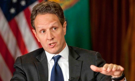 """The only thing that would keep us from getting there,"" Timothy Geithner said, ""is a refusal from Republicans to let rates go up on the wealthiest Americans, and I don't think they're going to do that."""