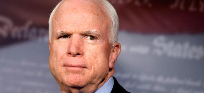 Sen. John McCain, R-Ariz., pushed the cuts.