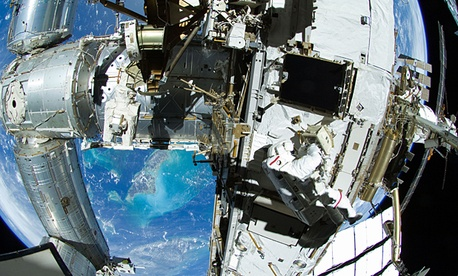 NASA astronaut Sunita Williams on the International Space Station.
