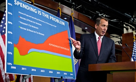 John Boehner held a news conference Friday on the fiscal cliff.