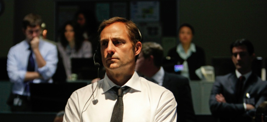 "This film image released by Columbia Pictures shows Mark Strong in a scene from ""Zero Dark Thirty""."