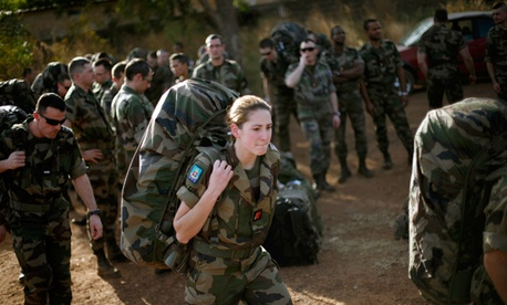French troops arrive at Bamako's airport Thursday Jan. 17, 2013.