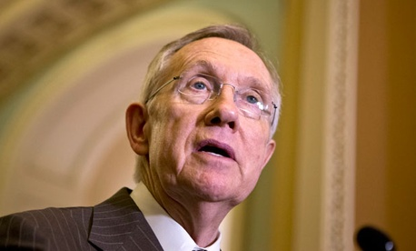 "Sen Harry Reid, D-Nev., said,  ""I'm very glad that … they're going to send us a clean debt ceiling bill."""