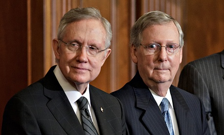 Senate Majority Leader Harry Reid, D-Nev., left, and Senate Minority Leader Mitch McConnell, R-Ky.