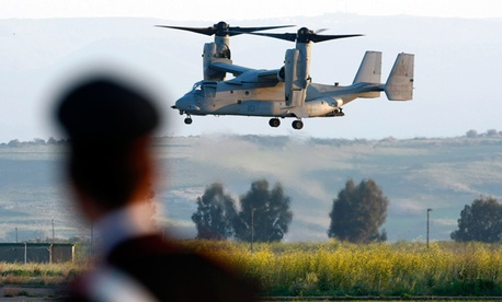 MV-22 Osprey carrying U.S. Army Gen. Carter Ham