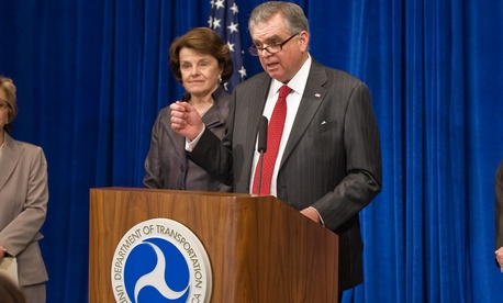 Outgoing Secretary of Transportation Ray LaHood.