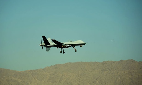 A U.S. Air Force MQ-9 Reaper flies near Kandahar in 2009.