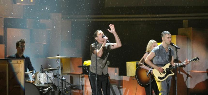 Fun. at the 2013 Grammy Awards.