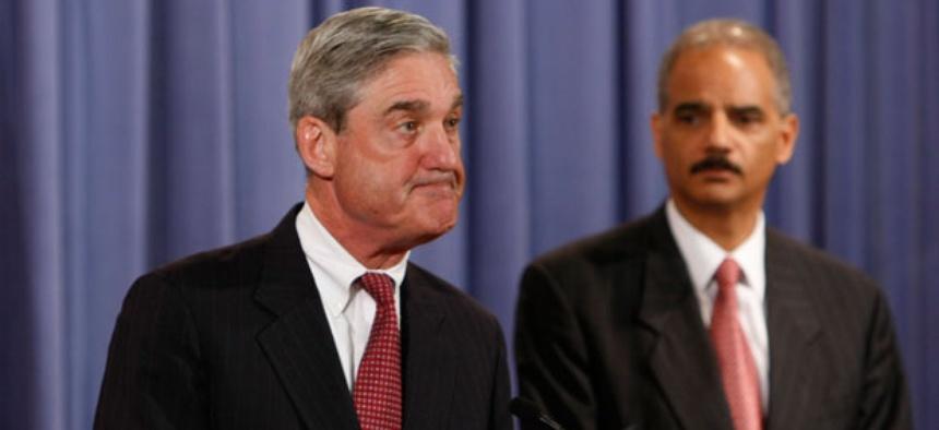 FBI Director Robert Mueller and Attorney General Eric Holder