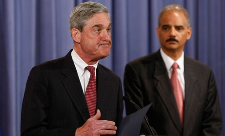 FBI Director Robert Mueller and Attorney General Eric Holder
