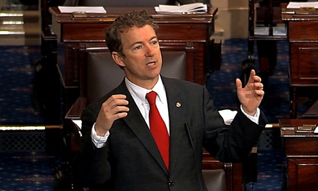 Sen. Rand Paul, R-Ky. speaking on the floor of the Senate, as part of his filibuster of John Brennan's nomination.
