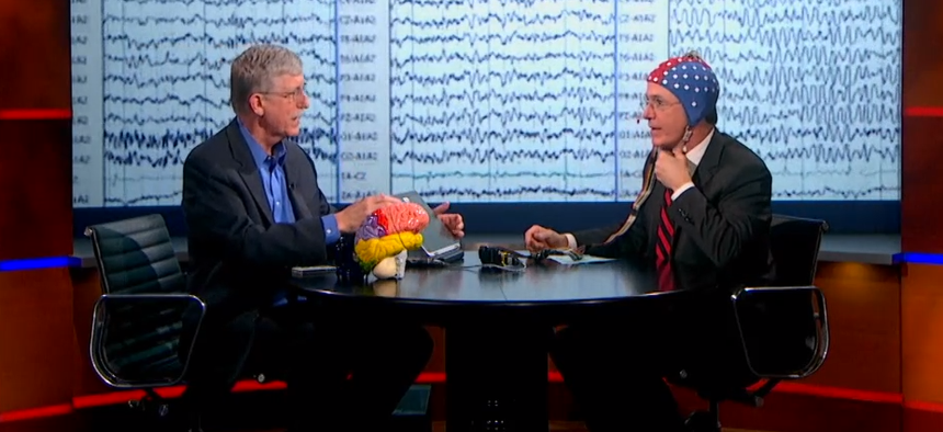 NIH Director Gets Into Stephen Colbert's Brain - Government