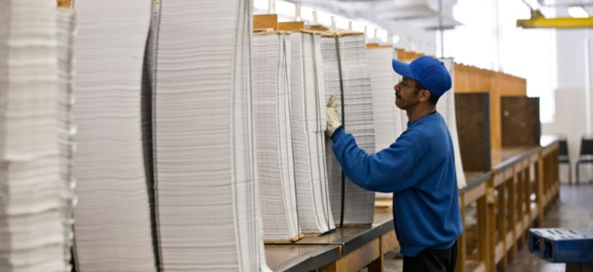 Copies of the budget are prepared for binding at the Government Printing Office.