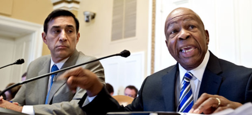 House Oversight and Government Reform Committee Chairman Rep. Darrell Issa, R-Calif., left, and the committee's ranking Democrat Rep. Elijah Cummings, D-Md.