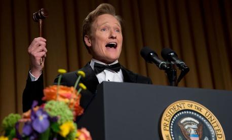 Comedian Conan O'Brien headlined the event.
