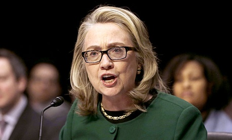Former Secretary of State Hillary Clinton testifies on Capitol Hill on the deadly September attack on the U.S. diplomatic mission in Benghazi.