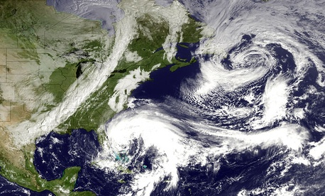 The National Weather Service tracking of Hurricane Sandy